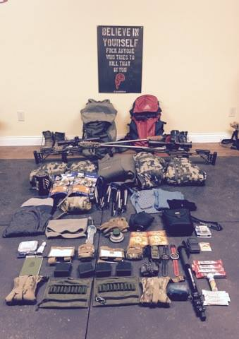 pic of all their gear laid out.