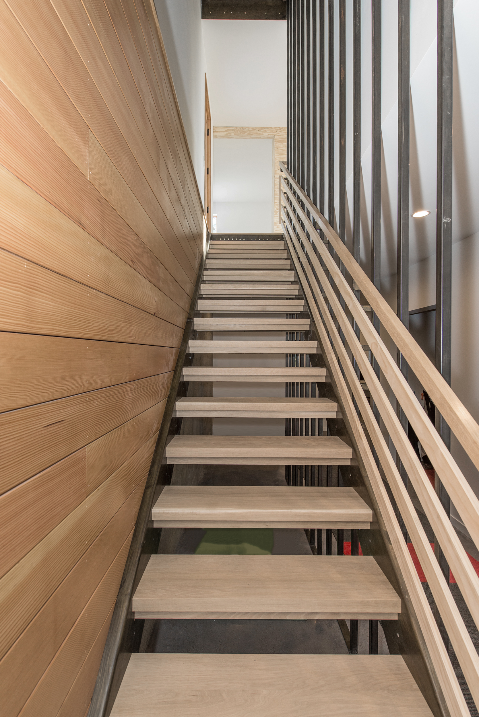 open-riser stairs