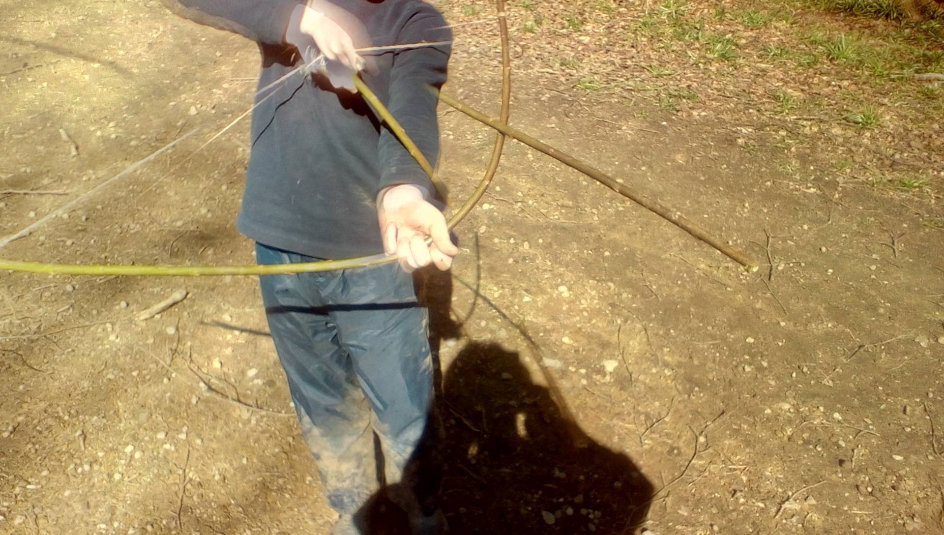 Billy and his bow and arrow today!