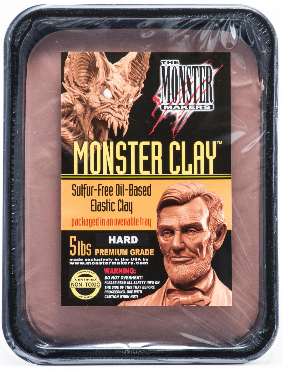 """Suitable for sculpting both dead presidents & demonic bats!"""