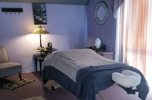 Cassie's suite is calm and quiet.