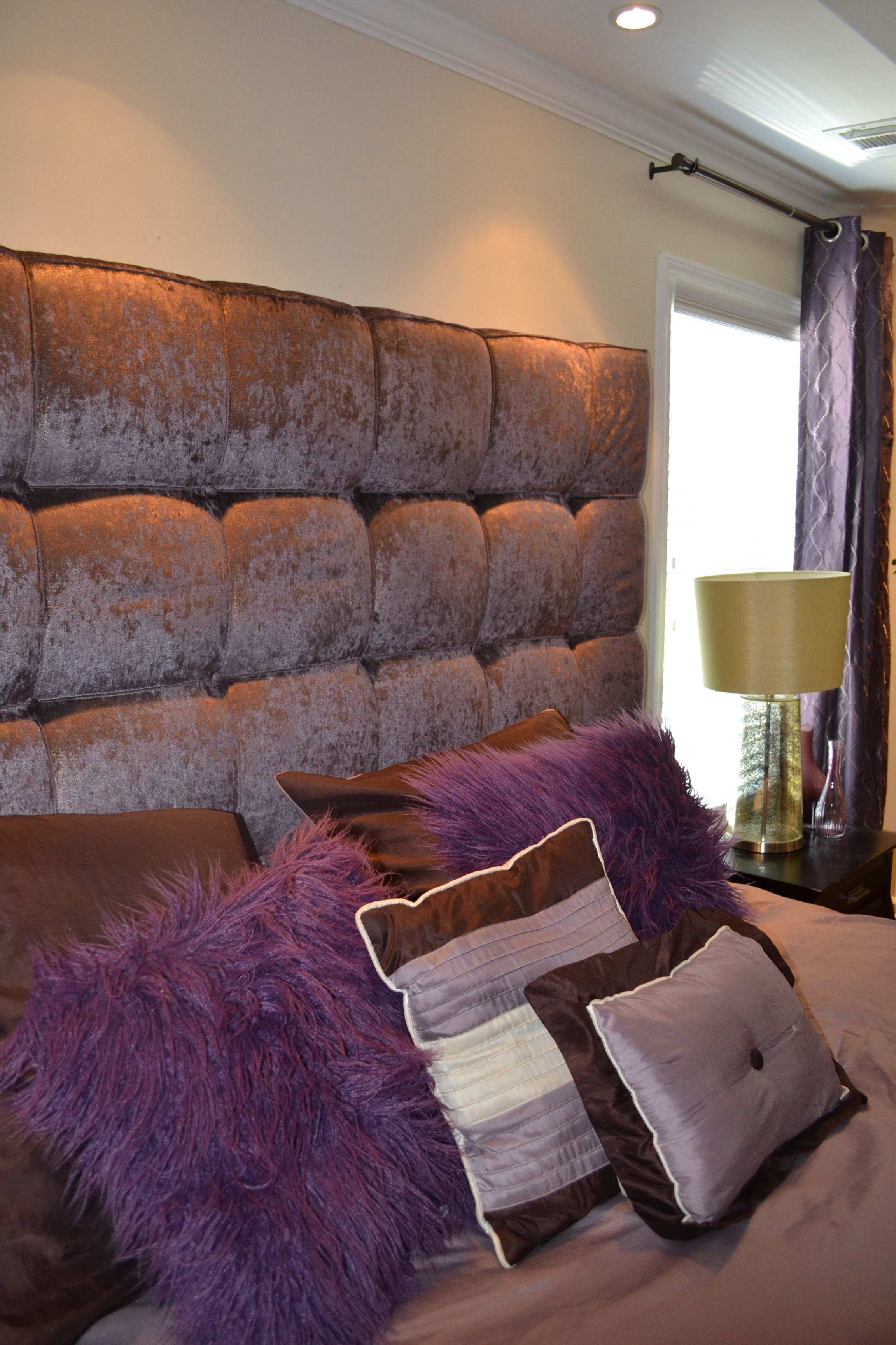 Custom tufted headboard