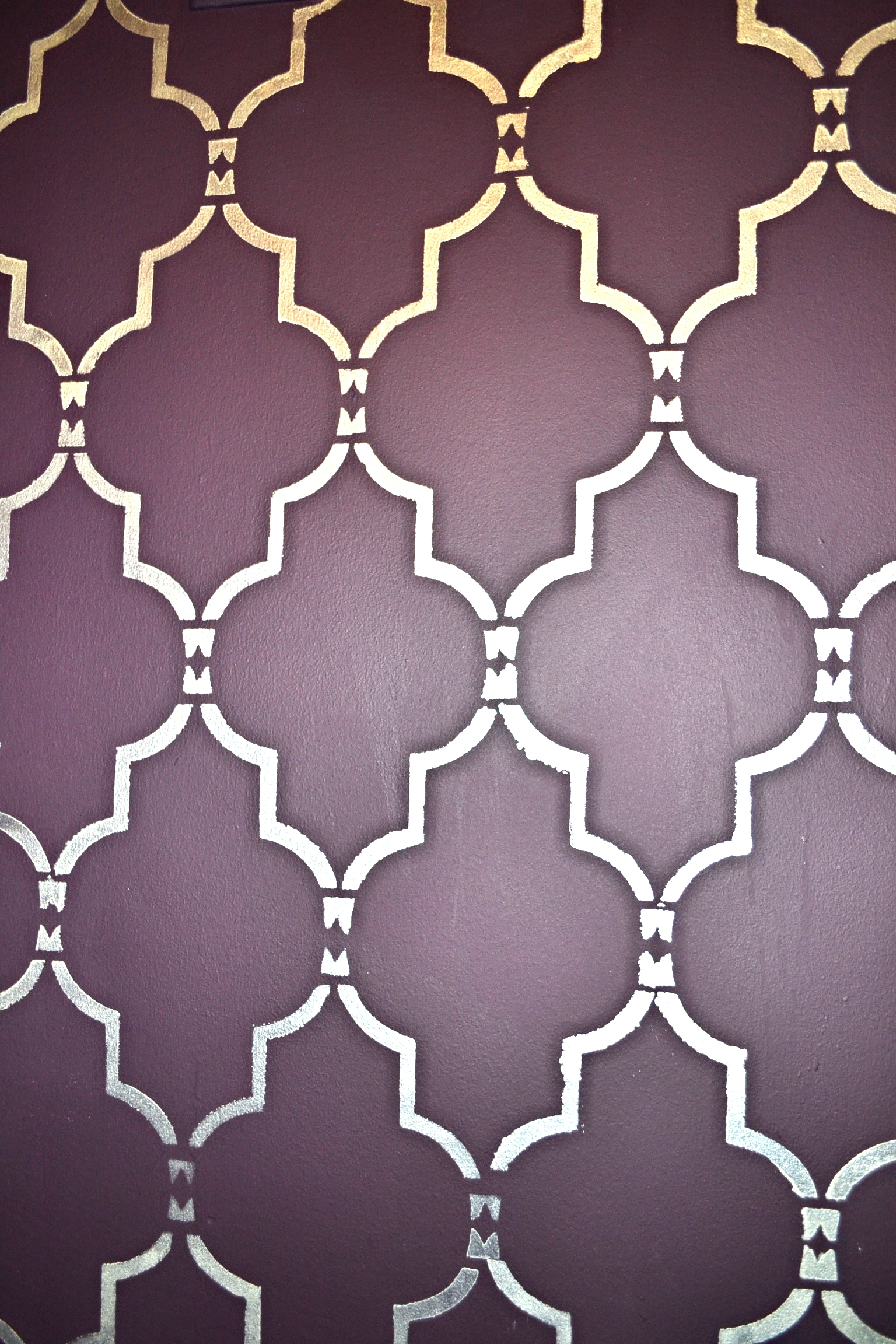 Hand stenciled Moroccan wall design