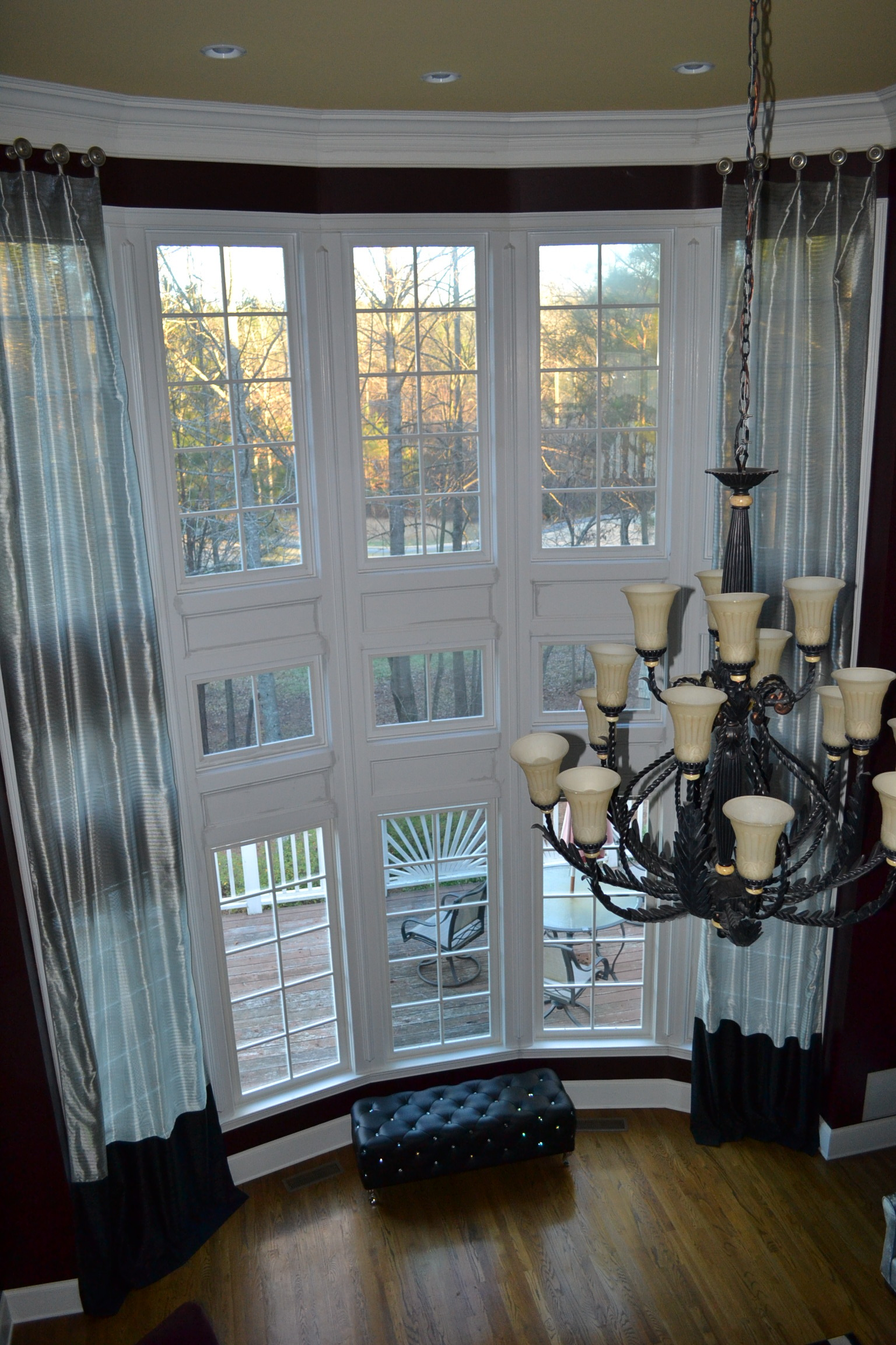 Custom drapery and window treatments