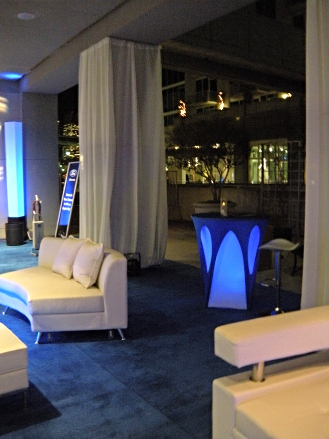 Corporate can be sexy in this VIP Lounge, sponsored by Ford Motor Co.