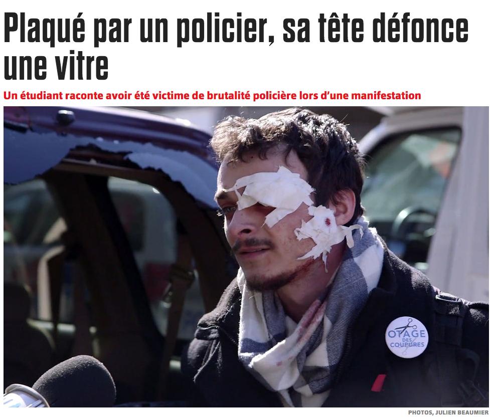 Photo publiée dans l'édition du samedi du Journal de Montréal, le 4 avril 2015.  Article  de Judith Plamondon.