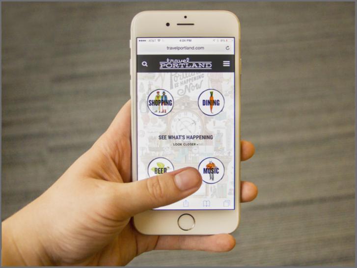 Travel Portland Mobile Web Application