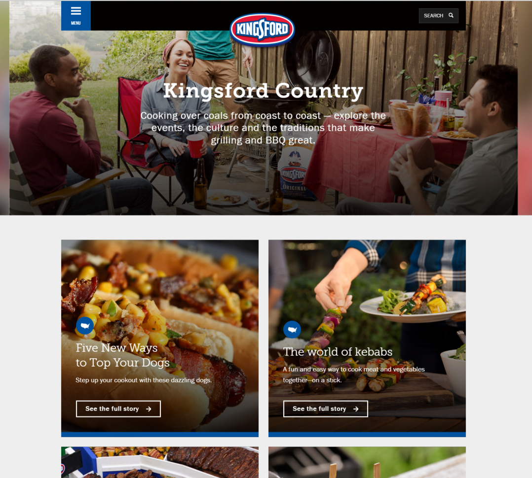 Kingsford Website User Experience