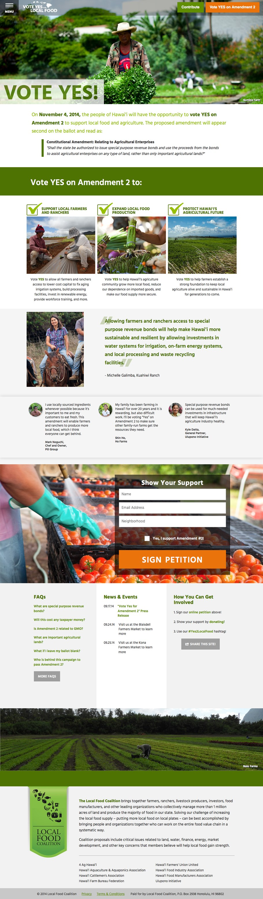 Yes2localfood website