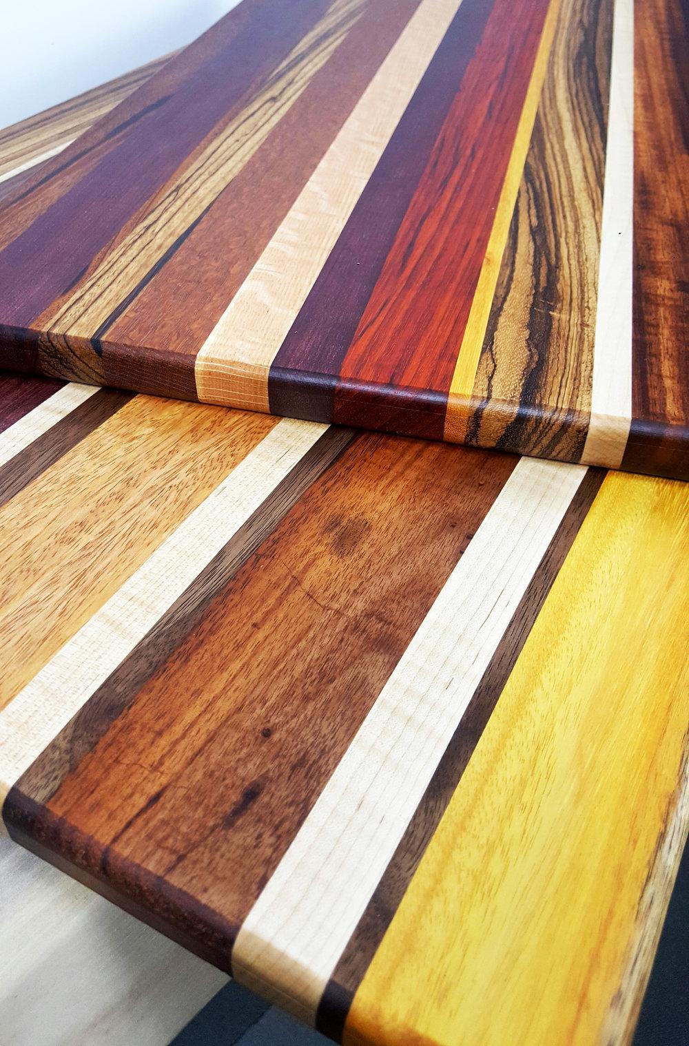 Auguste Cutting Board, Various Exotic Hardwoods