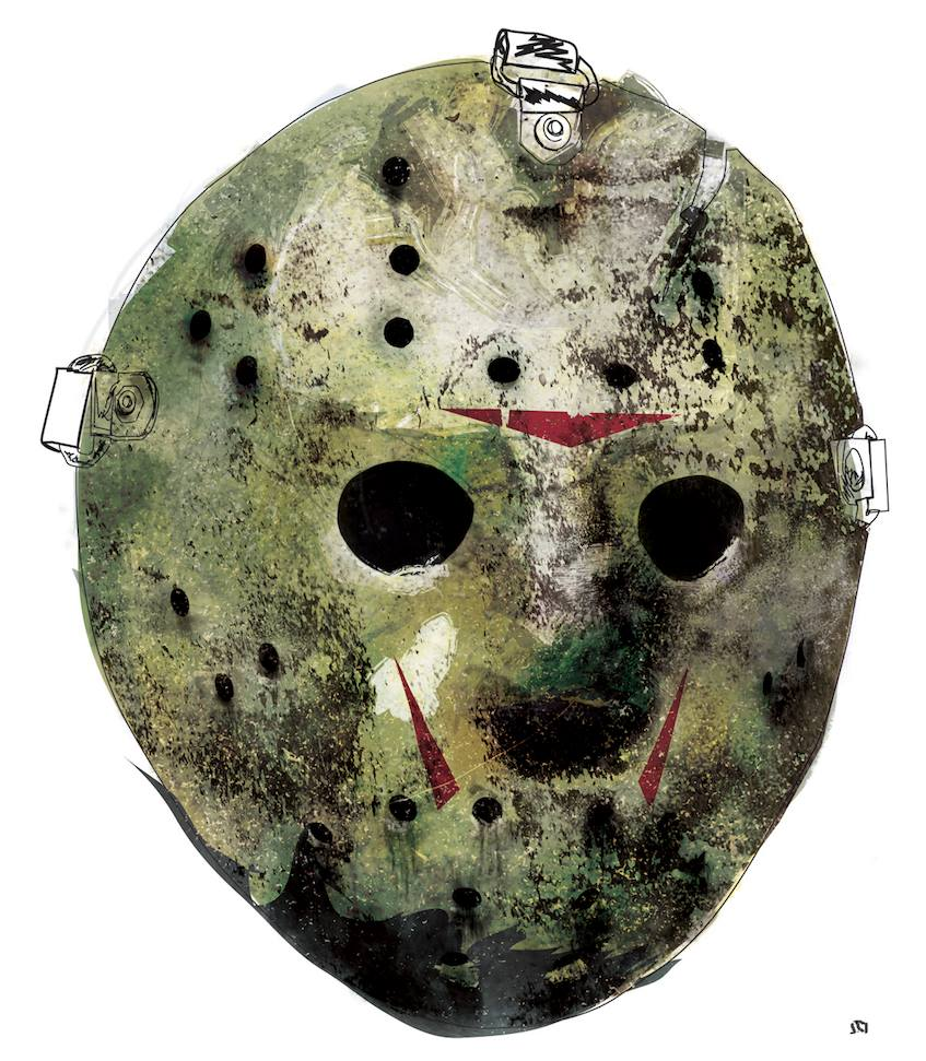 Friday The 13th Mask Illustration