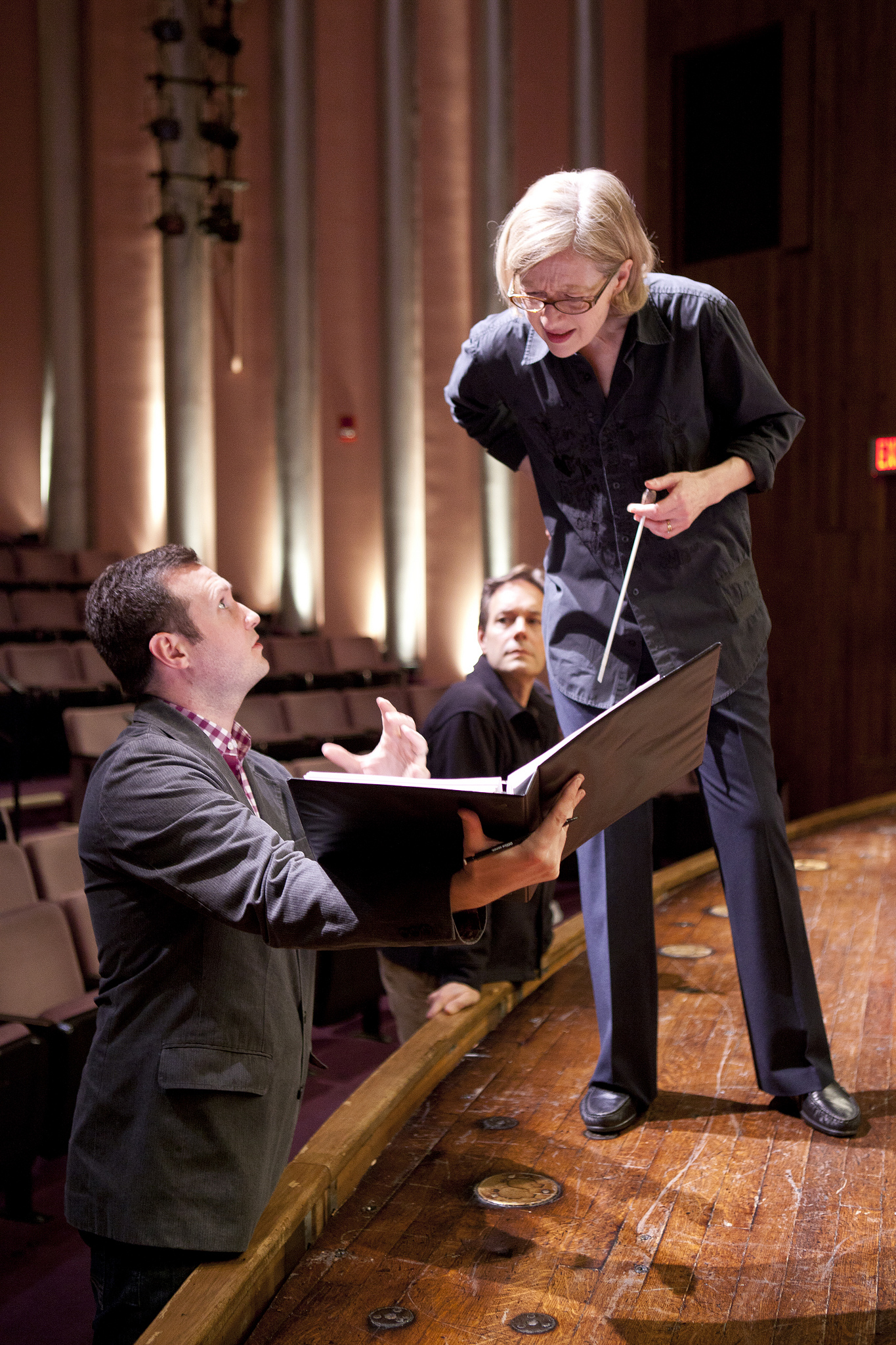 """Rehearsals for """"Charon,"""" with Jake Heggie and Anne Manson, The Kennedy Center, Washington, D.C."""