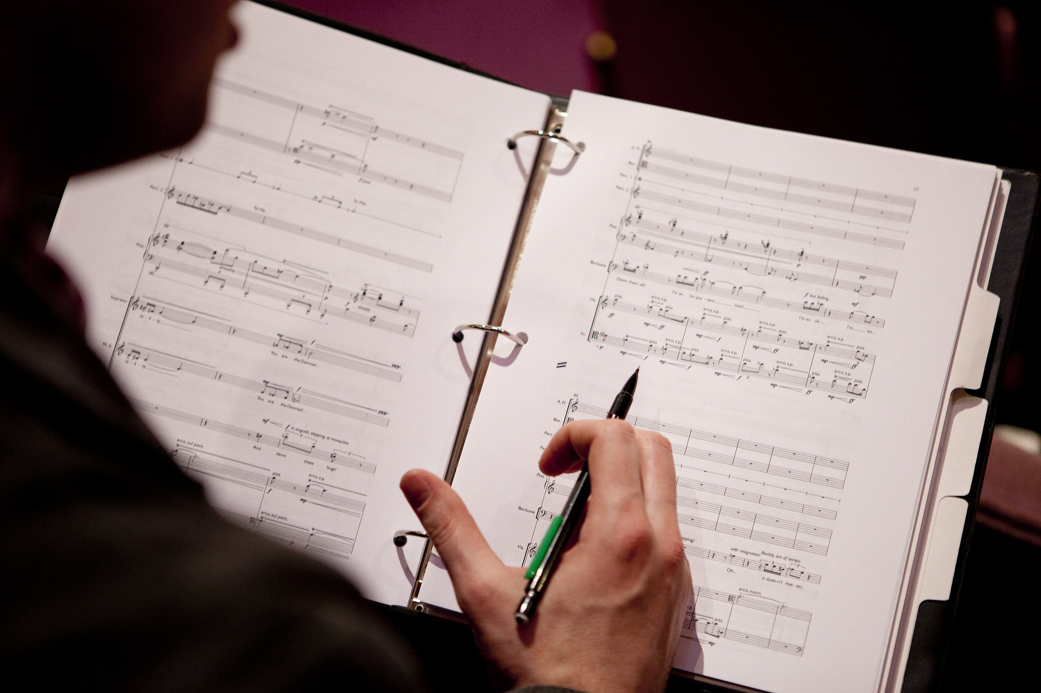 "The score of Scott's opera, ""Charon"""