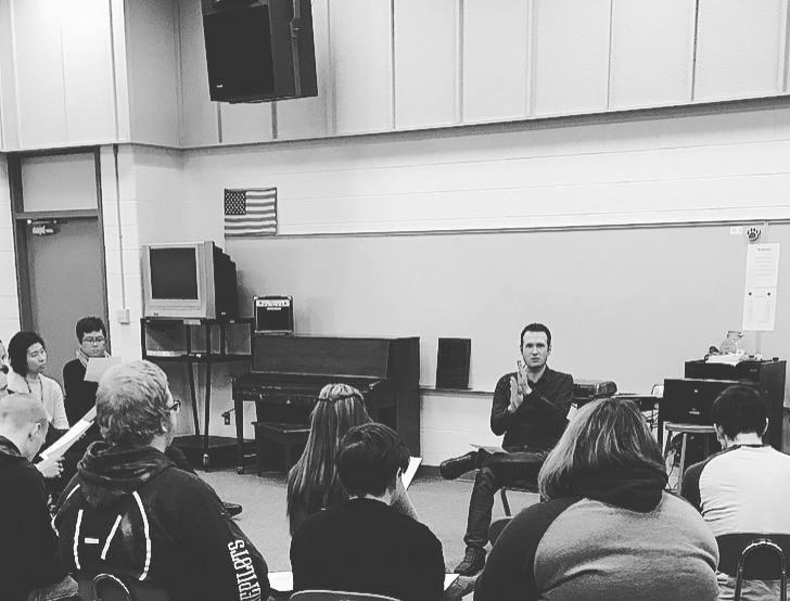 Teaching high school students, Saratoga, WY