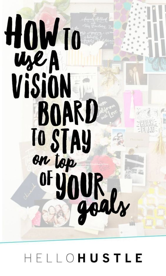 How to Use a Vision Board to Stay on Top of Your Goals