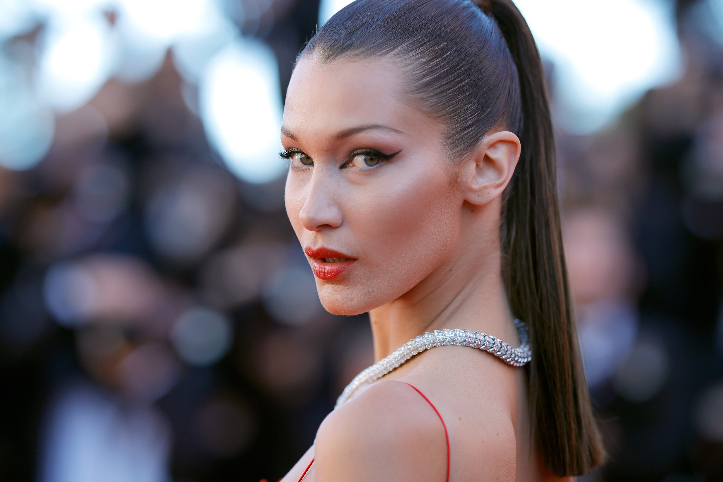 Get Bella Hadid's Look - Natural + Organic Makeup for Eluxe Magazine