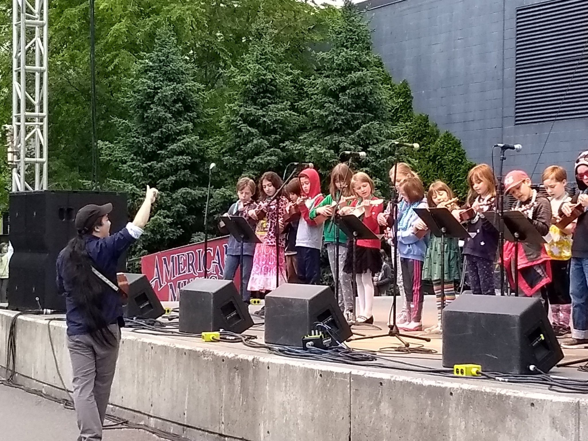 Our 3rd graders performing at the Seattle Folk Life Festival 2019. So nervous and equally excited to be on the main stage this year :)