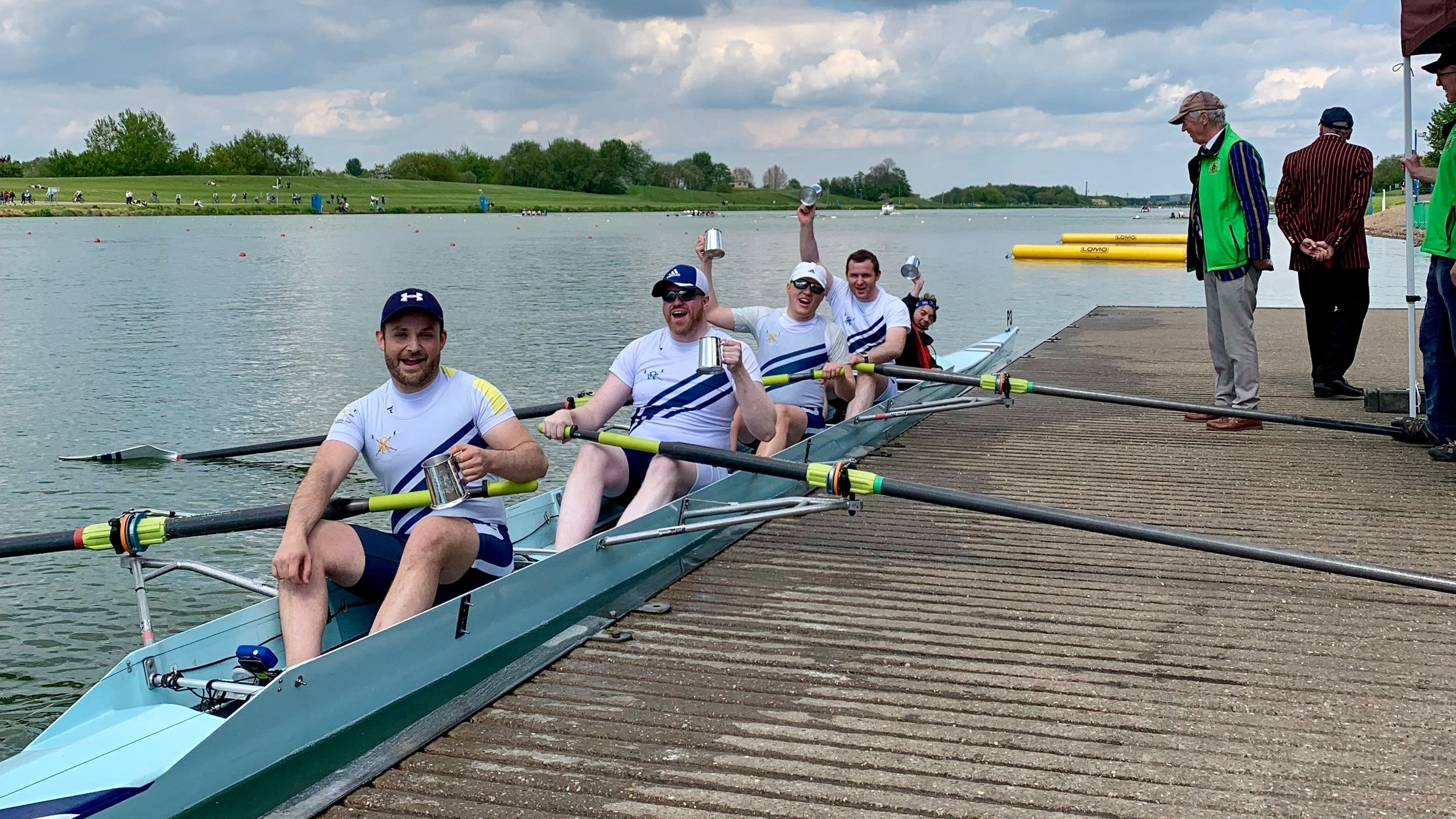 Congratulations to Gui, Grant, Danila, Darryl and cox Sophie for winning their men's 4+ event!