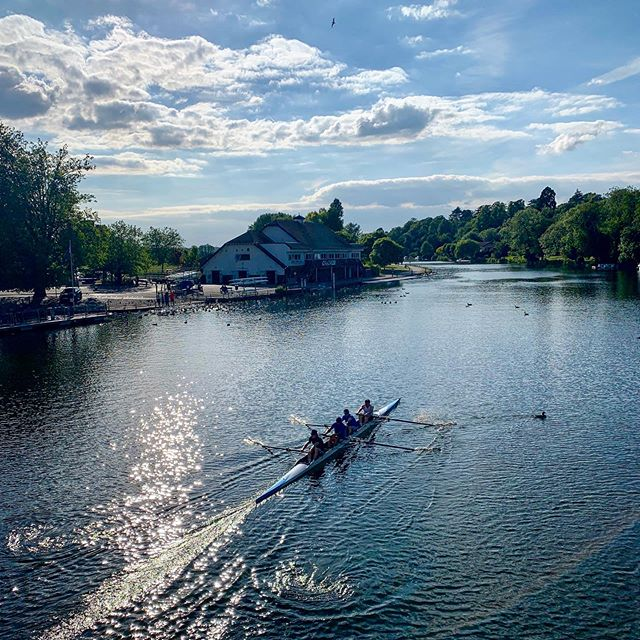 ....it's that time of season when we get the best of english summer rowing! Reading Rowing Club wishes best of luck to all competitors racing Henley Royal Regatta this week! #summerrowing #rowing #yeahreading #whiteandblue #Aviron #summer19 #henleyroyalregatta
