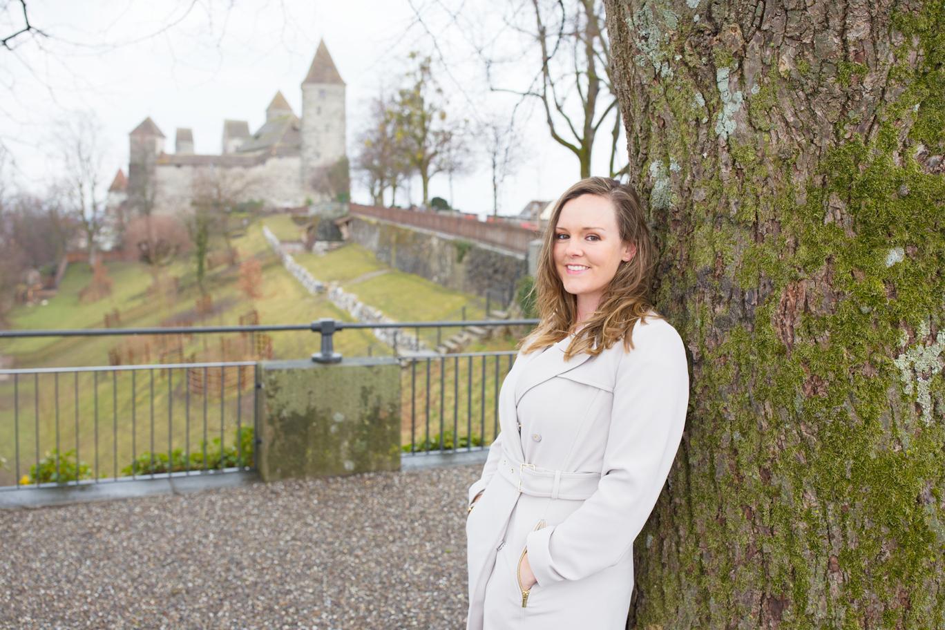 Christy Blum at Rapperswil Castle, St. Gallen, Switzerland — Something Swiss