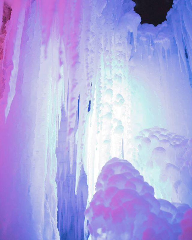 Colorful icicles from the ice grotto at Schwarzsee ❄️