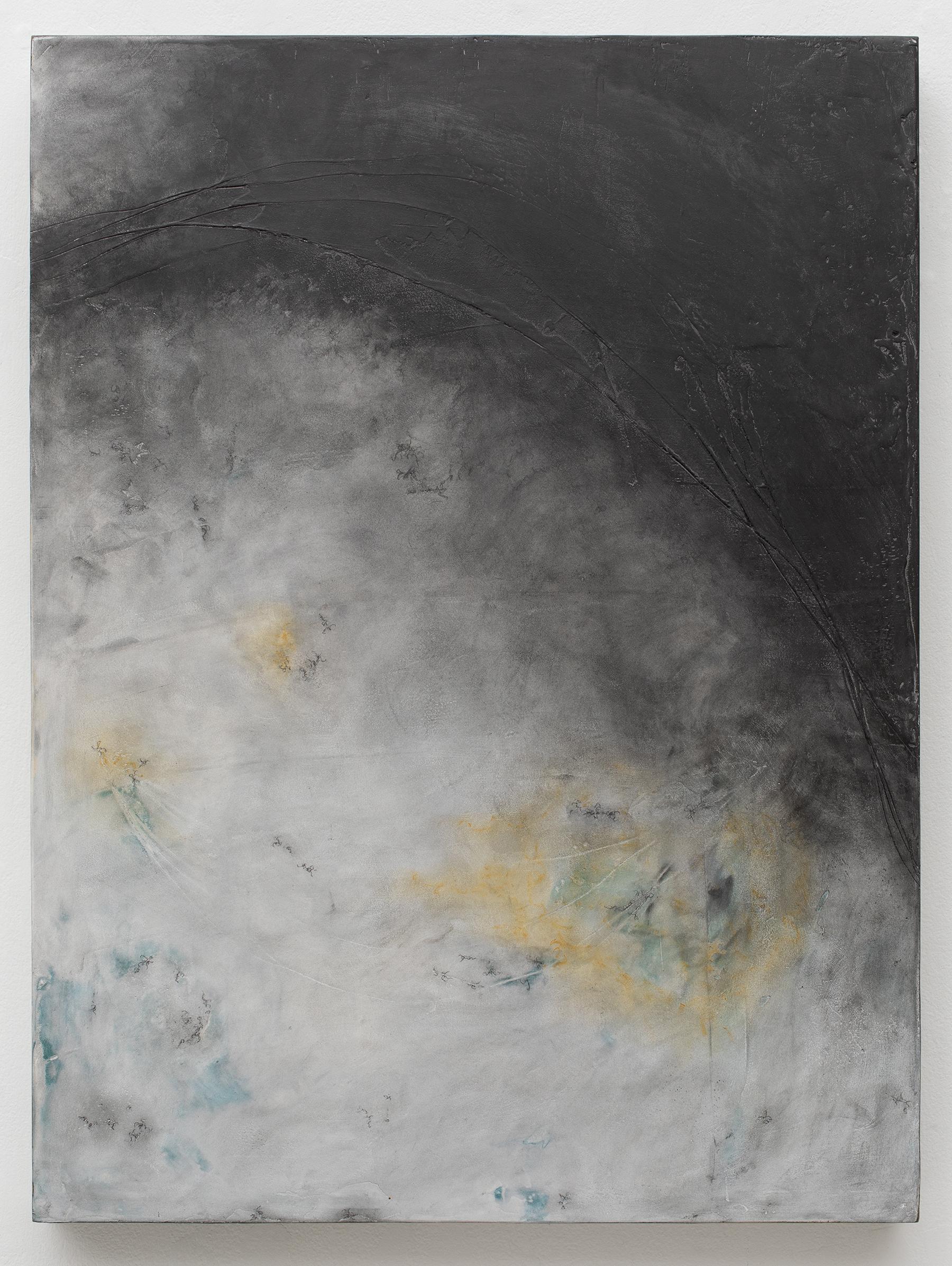 Deepening Mystery , 2018, plaster, graphite, acrylic on birch panel; photo by Dan Kvitka