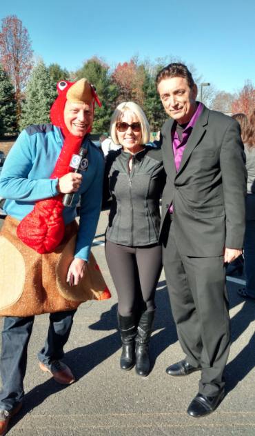 A huge success donating to Foodshare for the holiday season!  [Pictured above from left to right: Scott Haney, Robin McPhee, and James Arena-DeRosa (President and CEO of Foodshare)]