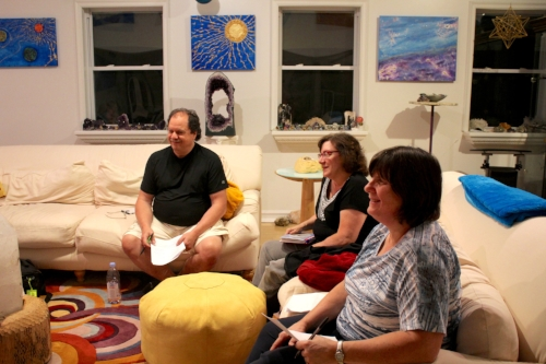 Michael, Gail, and Phyllis creating Inner workings program content