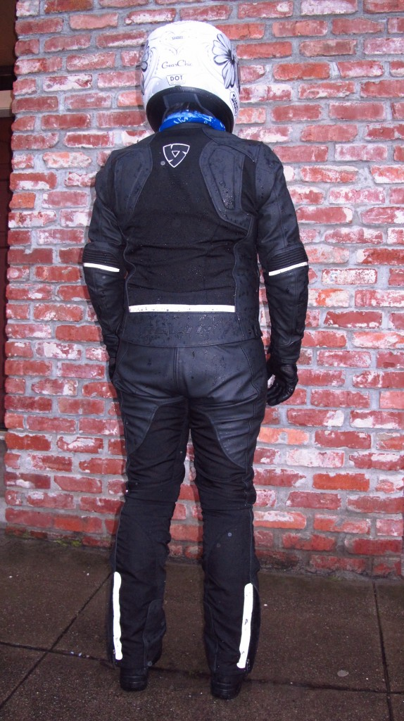 January 2013 - Revit Ignition 2 Jacket - Back, after a wet ride, wearing size 38
