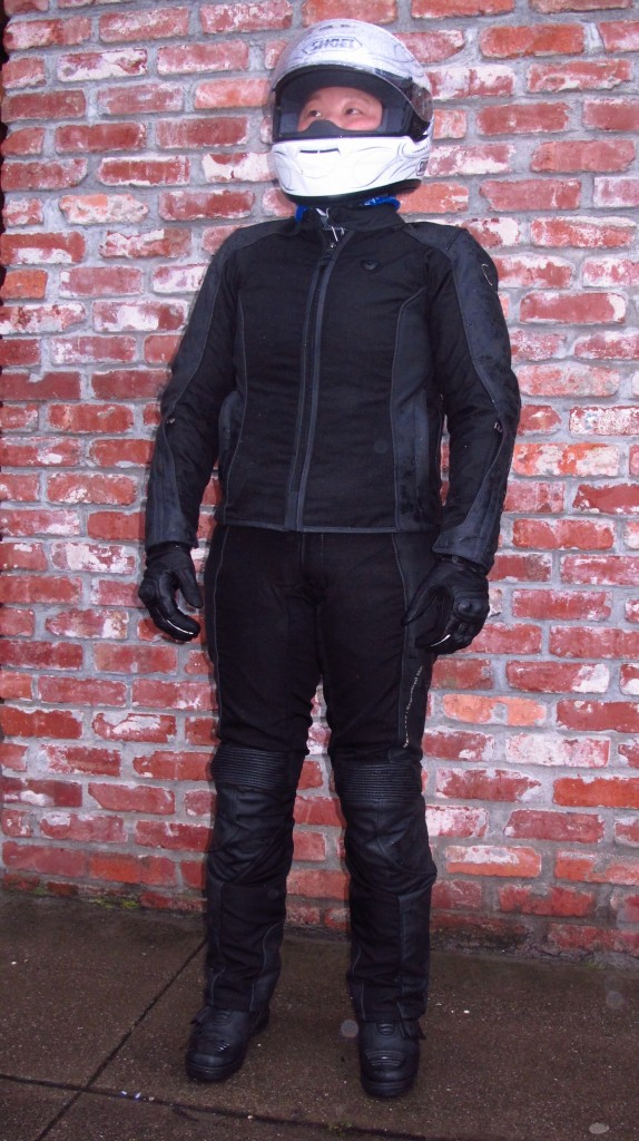 January 2013 - Revit Ignition 2 Jacket - Front, after a wet ride. Wearing Size 38