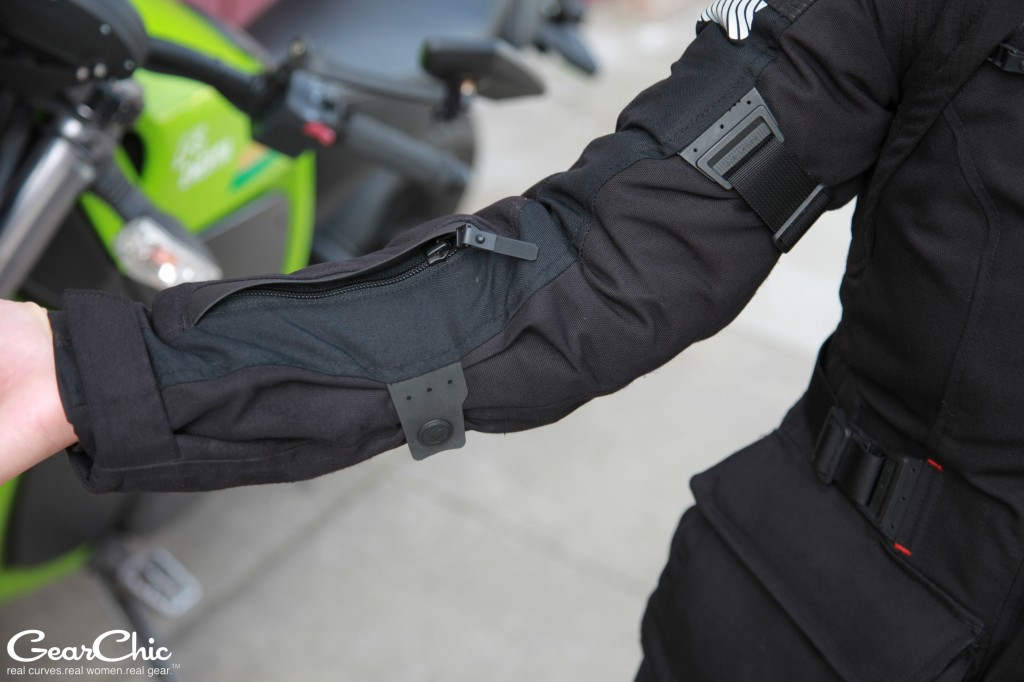 REVIT Legacy GTX Jacket - vent, forearm snaps and upper arm adjusters