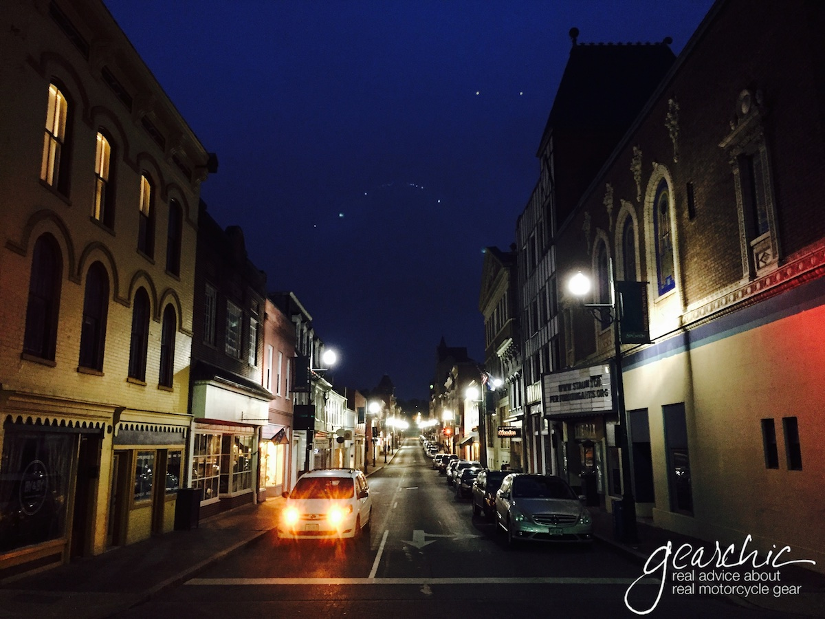 Staunton at night. My husband sure knows how to take photos.