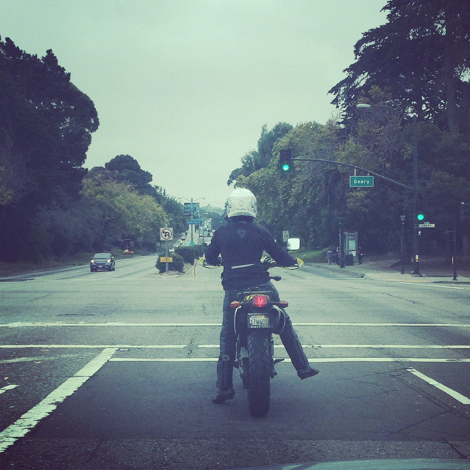 """Me, riding the tallest motorcycle I've ever ridden. A stock DRZ400SM with ~36"""" seat height. Yikes."""