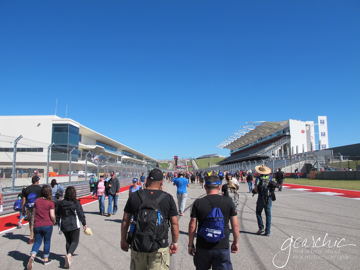 Looking Up the Main Straight