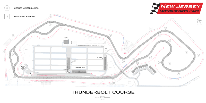 There are two tracks at NJMP, but we rode on Thunderbolt, which is more technical and has more turns. It's a very fast track with higher average speeds.