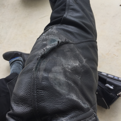 My crashed Rev'it Pants from 2015