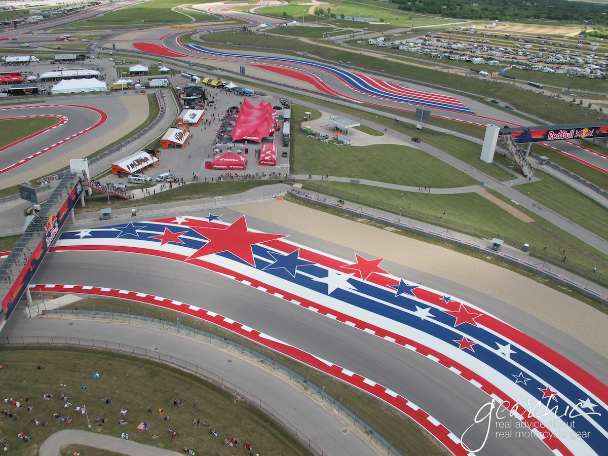 Okay not all tracks have stars and stripes, but looks how pristine that pavement is at COTA, Austin!