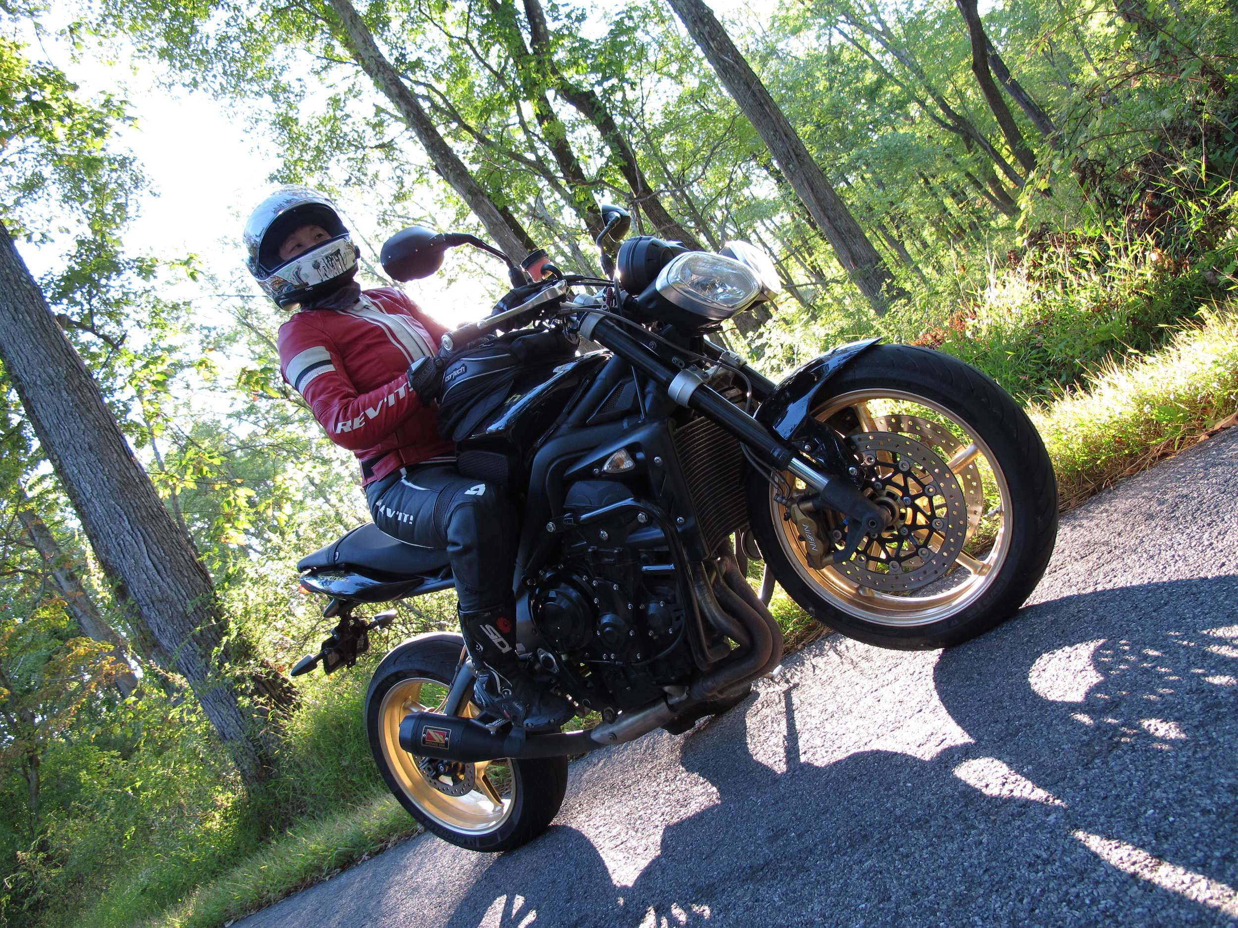 Me, feeling supremely confident on my '12 Street Triple R. But it wasn't always that way.
