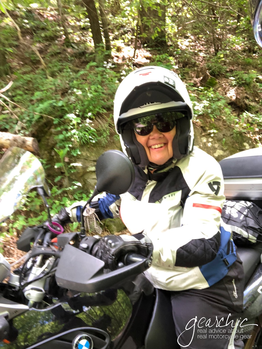 My friend Tamela on her dirt worthy F650GS