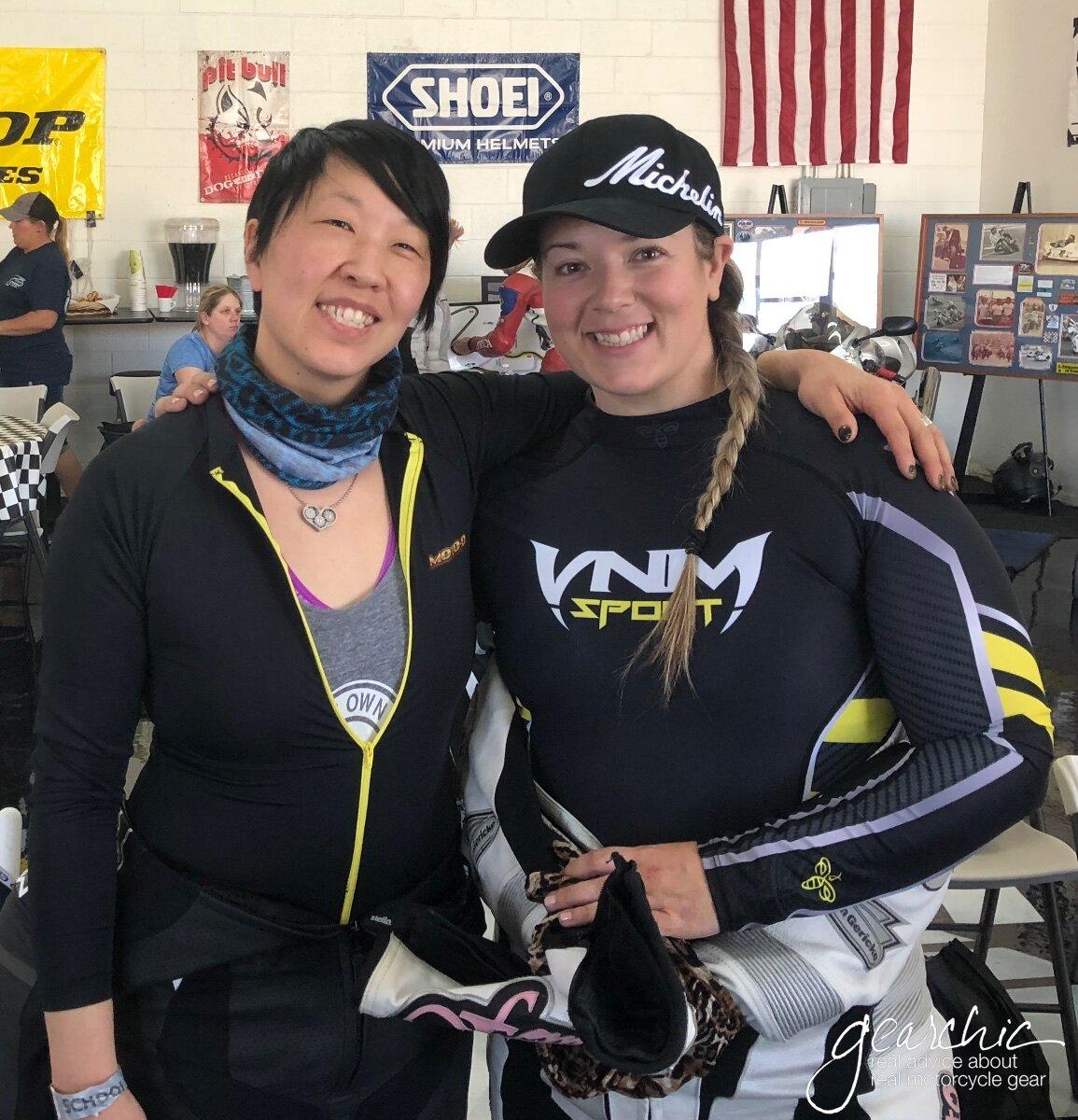 Joanne Donn  (left, GearChic.com) and  Brittany Morrow  (Rockthegear.org, Brittanymorrow.com)