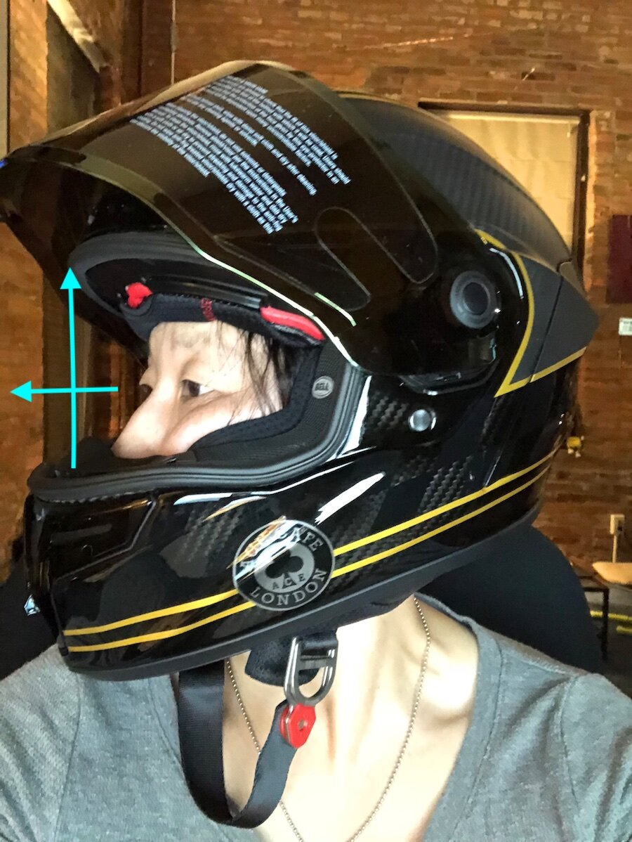 I'll cover how wearing a helmet that isn't designed for your riding position can be a negative or positive thing