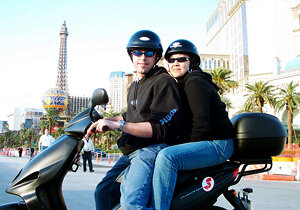 2003. My first experience as an adult on a two wheel motorized vehicle. Eeek.