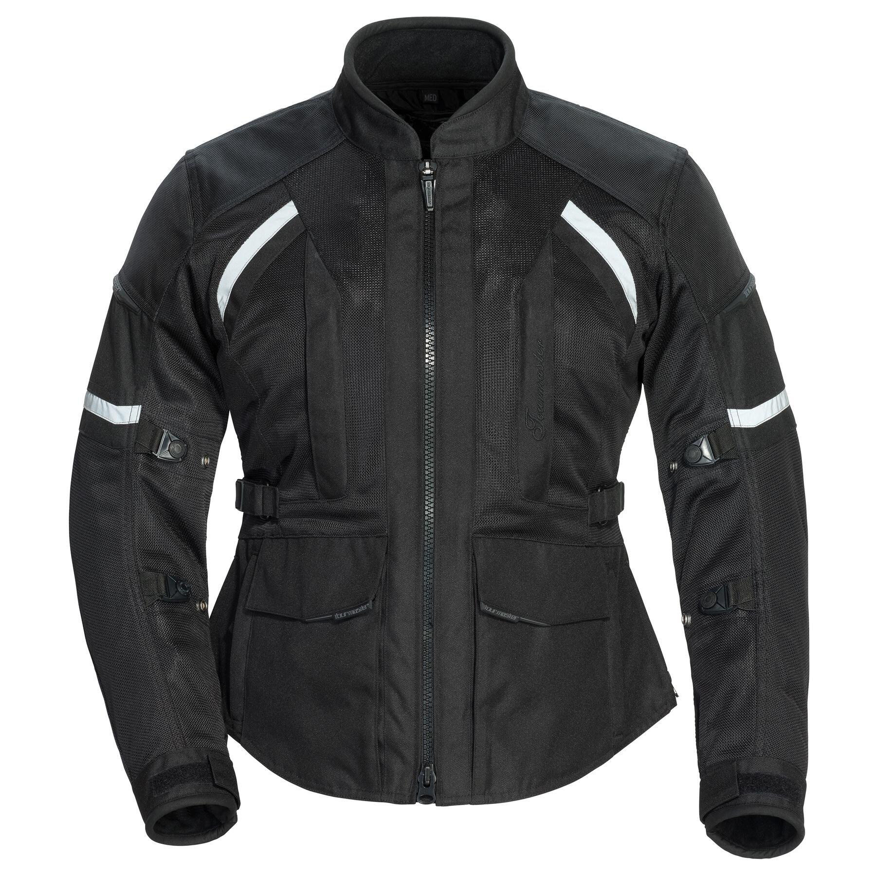 """Tourmaster Sonora Air     In addition to regular sizes, XS-XL, this is offered in Plus S-XL. I've had great luck with this jacket, and in a Plus XL I have been able to size a woman with a 51"""" chest and 50"""" waist. It's one of my favorite go to's in this category. It's a summer weight, mesh jacket with removable liners for Summer/Spring/Fall riding. This one has a nice long cut, (see the big square pockets) in the front and the back. The Plus sizes are ideal if you are less than 5'5"""" or so and don't want to size up because the sleeves and length will be too long. For example, you're 5'3"""", with a 50"""" Chest, 48"""" Waist and """"46.5 Hips; you'll fit a Plus SM. Because essentially this size will be much larger to accommodate your bust/waist size without having to size up up up to XL."""