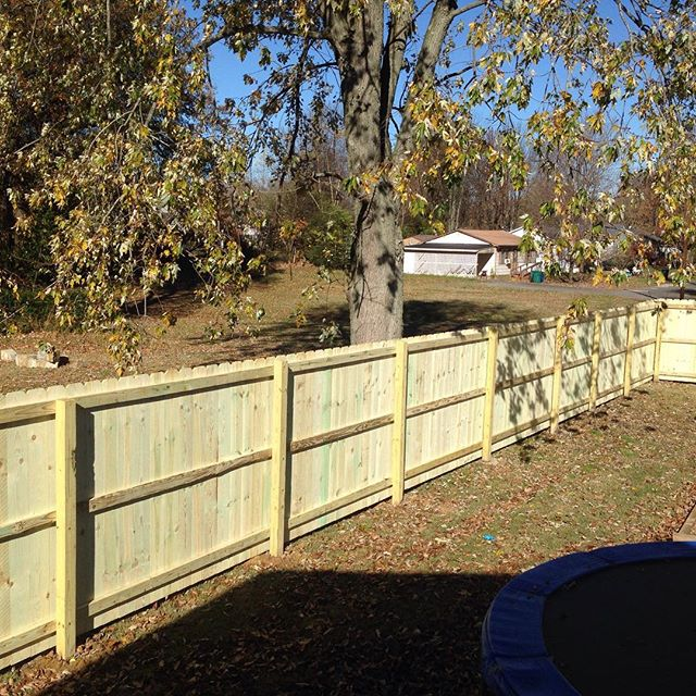 6ft wood privacy fence completed yesterday in Mayfield, KY! #fence #Kentucky #wood #backyard