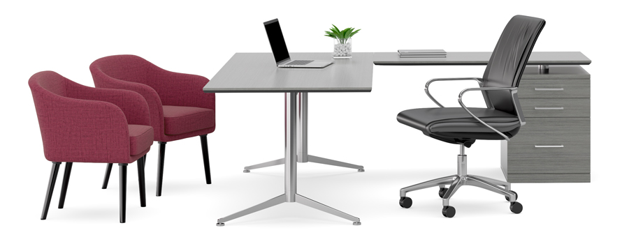 Oslo Executive Desk with Return and Return End Pedestal