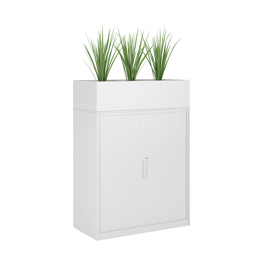Tambour Door Cupboard with Planter