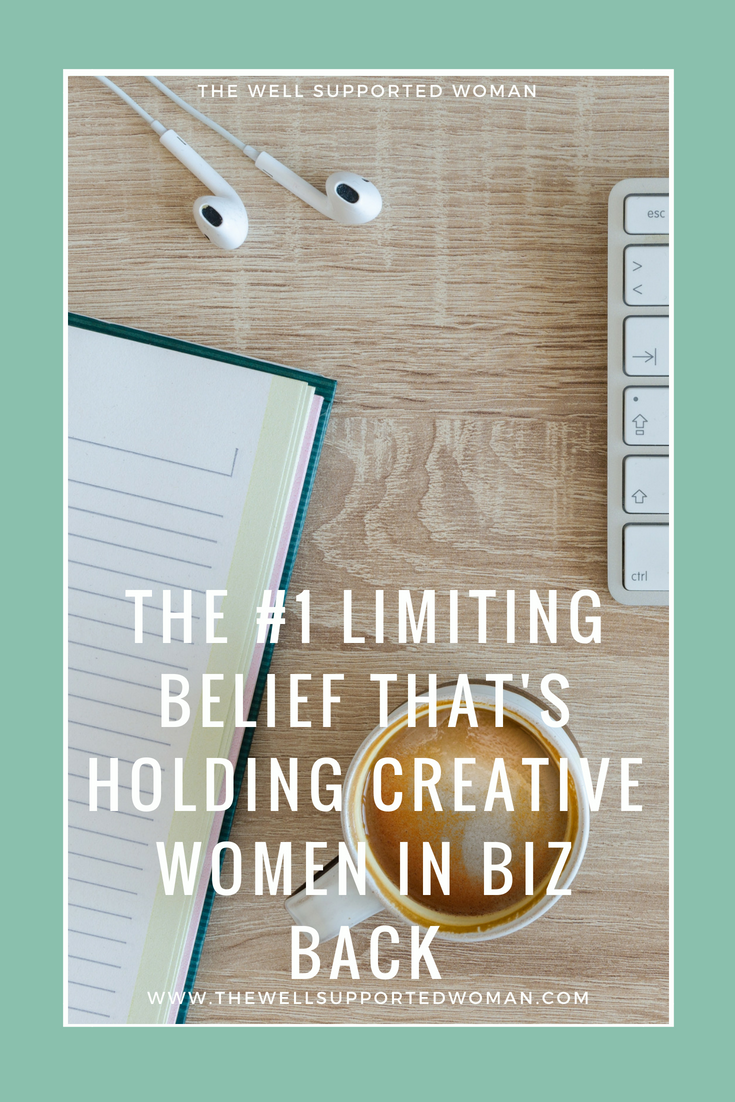 Laura Weldy, Life coach and leadership mentor for creative business owners, breaks down the most common limiting belief that keeps women in creative business from reaching their next level of success. It's not what you think it is - definitely a must read!