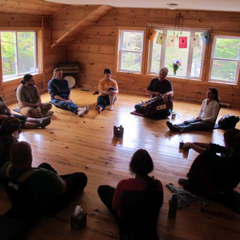 yoga loft in main lodge