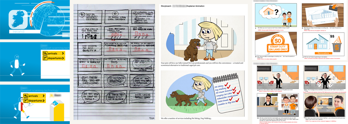 Some storyboard examples from my work