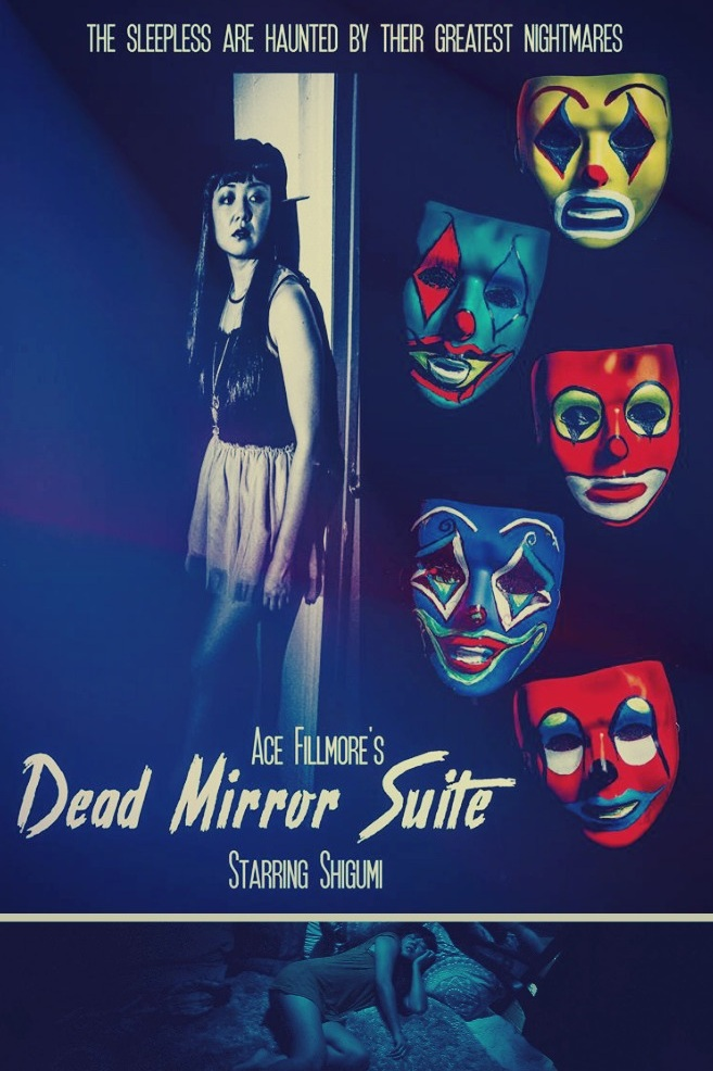 "DEAD MIRROR SUITE (2015, VIDEO) - DIRECTED BY ACE FILLMOREA psychological thriller from Ace Fillmore detailing the journey pf a young woman trapped in a neverending nightmare after a failed suicide attempt. Ace Fillmore's DEAD MIRROR SUITE is a modern take on the ""silent film"", masterfully juxtaposing themes of beauty, carnality, horror and misery in order to create an operatic cinematic experiment in psychological terror."
